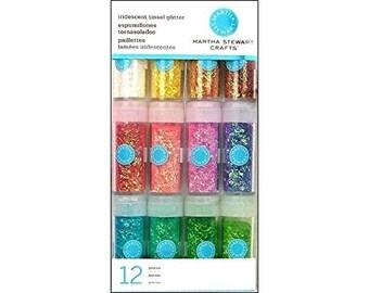 Martha Stewart Crafts Iridescent Tinsel Glitter, 12-Pack BRAND NEW!