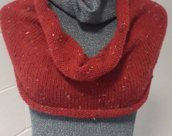 Winter Warmer Hand-Knitting Circle Cowl Can Be Worn as Poncho or Capelet