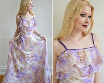 "Vintage dress ""BLOSSOM"" - Boho, hippie, 70, XS-S"