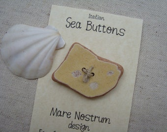 Italian handmade ceramic Button Buttons-genuine Sea Sea-the art of recycling-fashion accessories