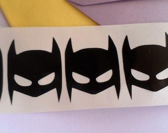 30 Batman stickers Batman decal Vinyl Wall Stickers Food packaging Scrapbooking stickers Envelope seal Party Cup Stickers Batman head Mask