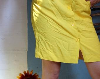 Vintage yellow 80s skirt! APART