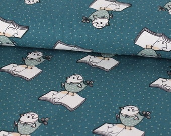 Organic Jersey Birdy fabric Uncle