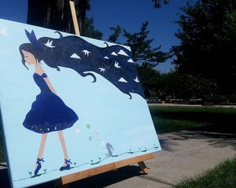 """Canvas Art, Acrylic Painting,""""Forever Day Dreaming"""""""