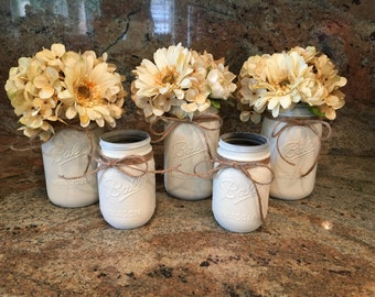 Vintage mason jar bouquet