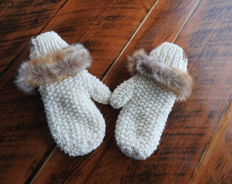 Knit mittens by The MeMa Collection