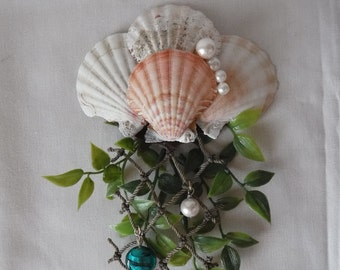 Mermaid's Seashell Hair Barrette