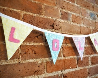 Multicoloured Personalised Name Bunting