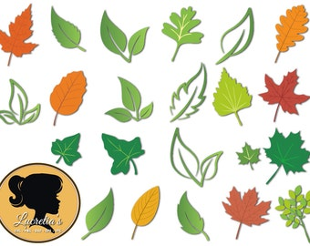 Leaves Silhouette - Nature svg - Leaves Svg - Autum svg (zipped .eps .pdf .dxf .svg and .studio file) vector cutting files