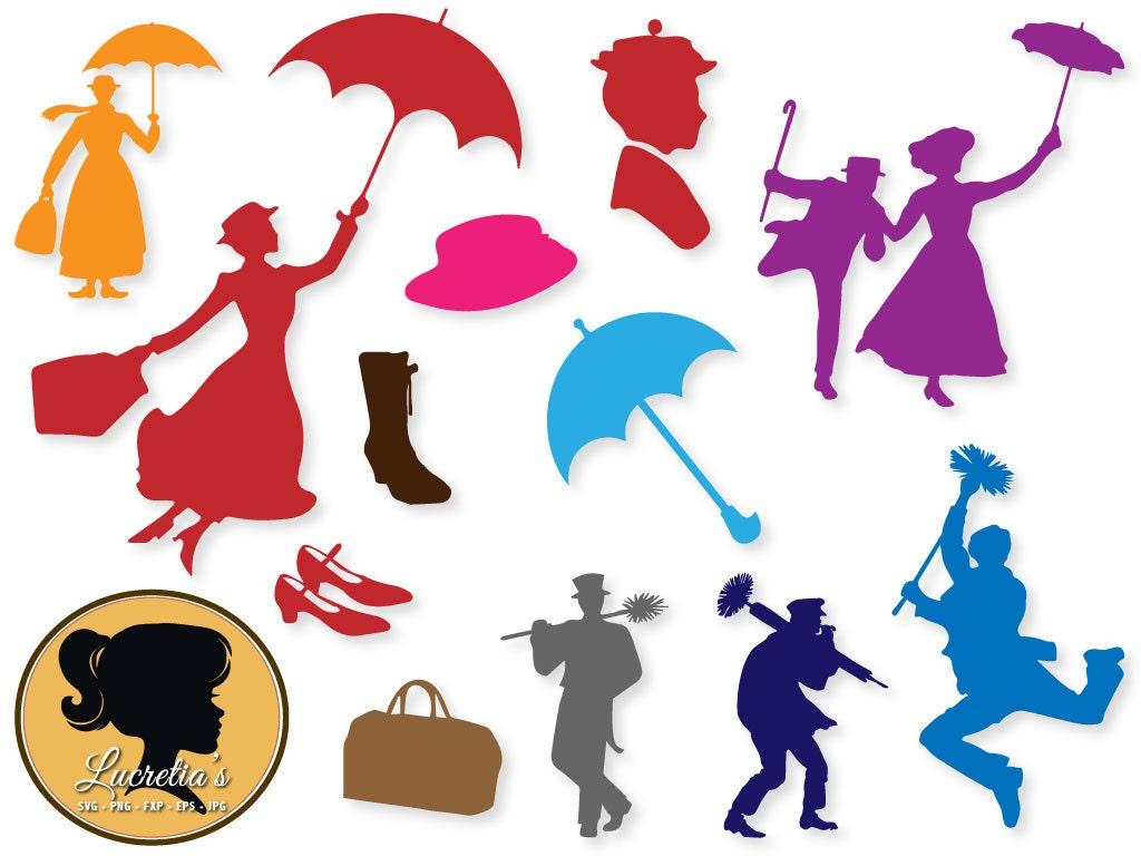 Mary Poppins Dibujos Para Colorear: Mary Poppins, Mary Poppins Eps, Mary Poppins SVG, Clipart