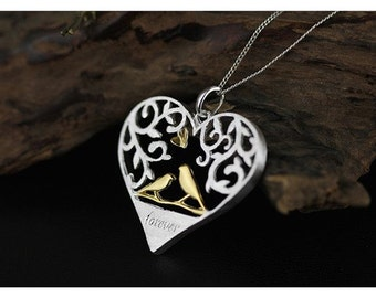 925 Silver love forever necklace