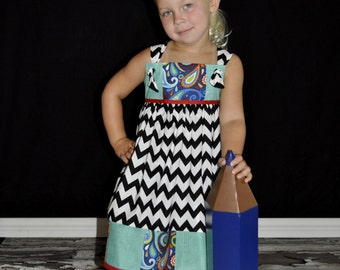 knot your average patchwork school dress