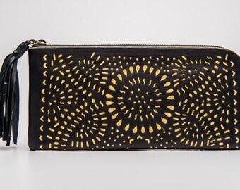 Black Boho Wallet
