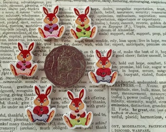 6 Bunny Buttons