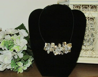 Porcelene Flowers with crystal accents