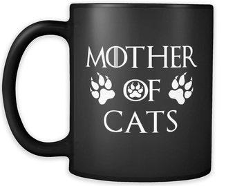 Items Similar To Handpainted Gray Cats Mug Black Cats