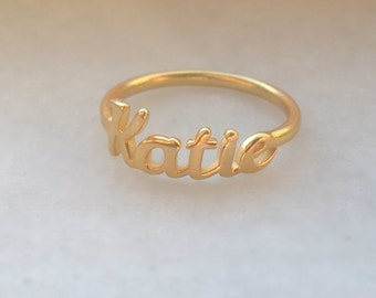 Name Ring, Custom Name Ring, Silver Name Ring, Personalized Ring