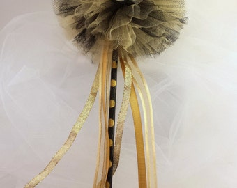 Black and Gold Princess Wand ~ Fairy Wand