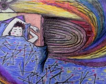 Color Pencil Sleep Illustration