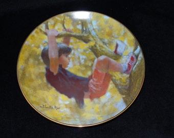 "1982 Viletta Carefree Days ""Monkey Business"" Collector Plate by Thornton Utz"