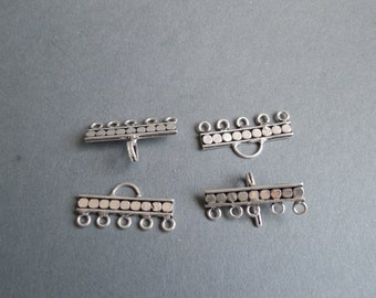 Multi-strand Hook and Eye Clasp -each