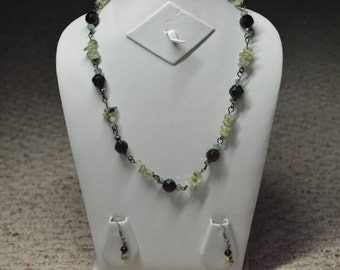 Black and Green Necklace set