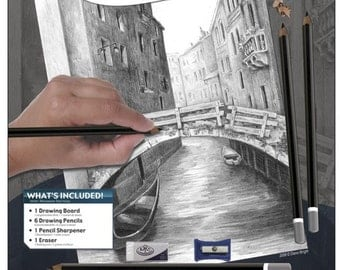 Learn to Sketch and Color-Bridge-FREE SHIPPING