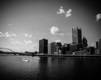 Pittsburgh Sky Line Black and White