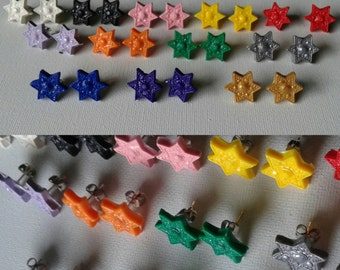 Star of David Stud Earrings in a variety of colors