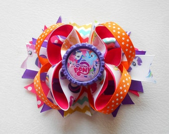 My Little Pony Handmade Boutique Layered Hair Bow 5""