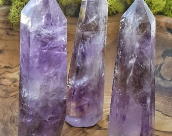 Large Amethyst Crystal Quartz Tower Point -  540