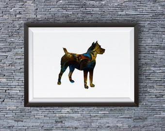 Dog Print -  Dog Poster - Colorful Art Illustration - Wall Art - Home Decor