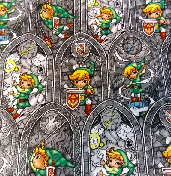 Zelda Fabric Link Fabric Gamer Fabric Legend Of Zelda Quilt