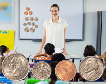 Magnetic Coins - Magnet Learning Aids for Counting