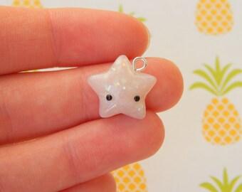 Opal Star - Polymer Clay Charm, Polymer Clay Jewelry, Charm, Cute, Kawaii