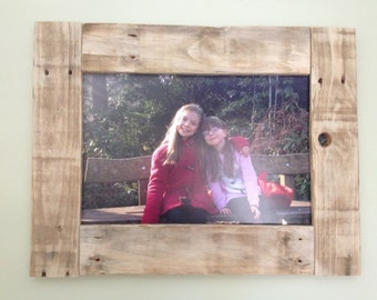 Reclaimed Rustic Pallet Wood Picture Frame.