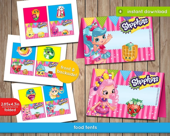 This is an image of Nifty Free Printable Shopkins Food Labels