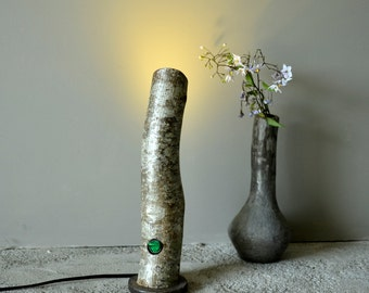 Handmade  Wooden log lamp Lighting Decor desk lamp bedside table lamp