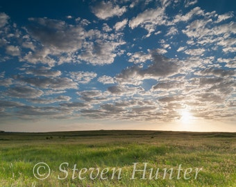 Sunrise Clouds Over the Prairie, Oklahoma, Free Shipping