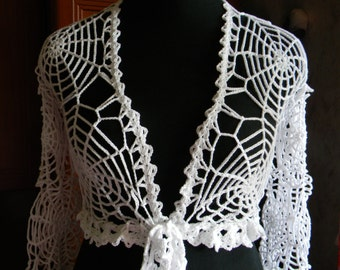 Halloween costume adult Spider web top exclusive work crochet lace bolero clothes web Gossamer net spider gothic gifts