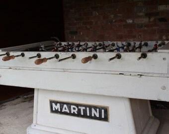 Vintage 1950's Martini Foosball Table, vintage football table, original martini foosball table, foosball table, old foosball table, foosball