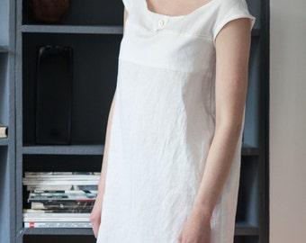 Linen dress - night gown - organic night wear - dressing gown - linen chemise - linen night dress - linen pajamas - lounge wear - nightgown