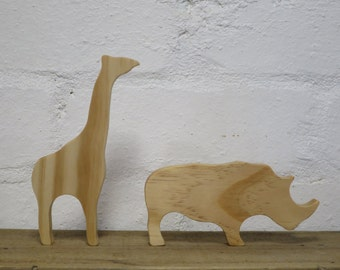 Choose ANY 4 wooden animals