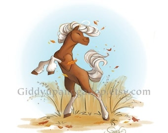 Filly in the Fall fine art print