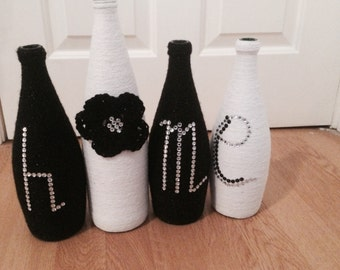 """Bottle glued and Wrapped """"home"""""""