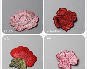 Embroidery Flower Applique Peony Lace Hand sewing DIY clothing accessories DIY clothing dress skirt