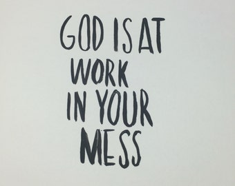 God is at Work Print