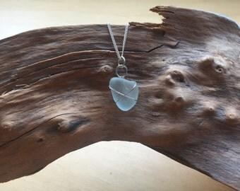Seaham Sea Glass Necklace (Sea foam)