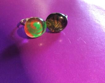 Marble swirl rings