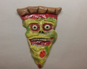 Creepy Pizza Face Magnet